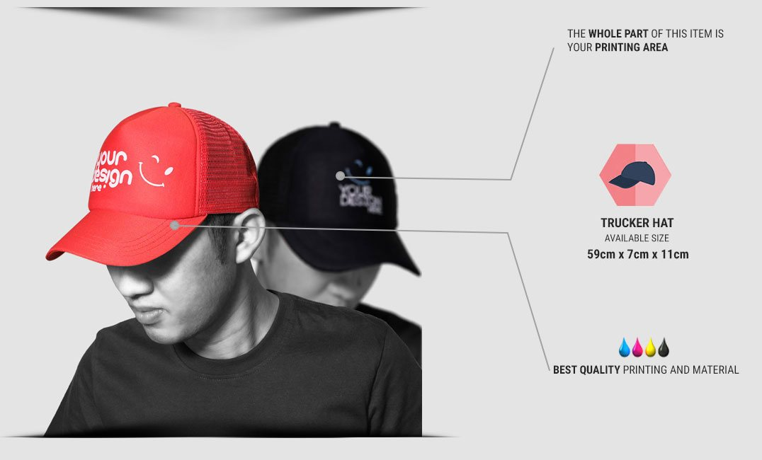 trucker hat specification