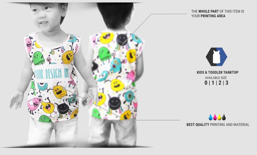 kids tanktop fullprint