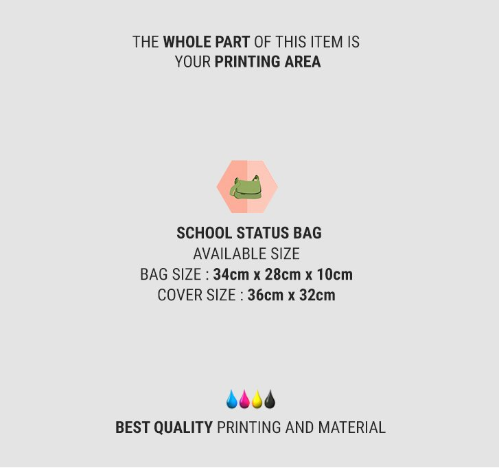 fullprint  school status bag 2